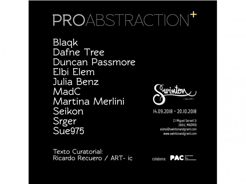 PROABSTRACTION+  |  GROUP SHOW  |  14.09.2018 – 20.10.2018