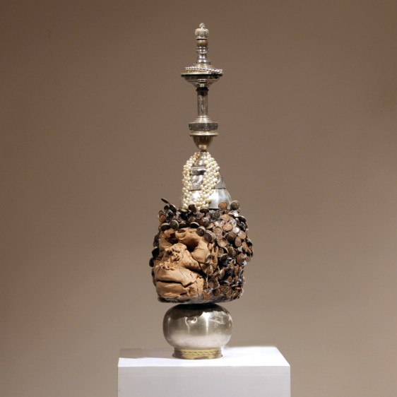 dead-face+silver-column-warrior-kriegerisch-61x17x19--180